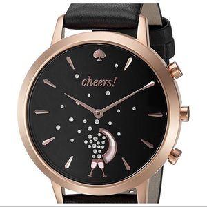 Kate Spade hybrid smart watch black leather